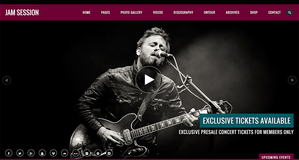 JamSession WordPress Theme