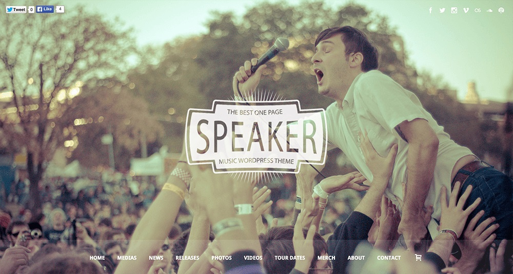 Speaker Theme WordPress