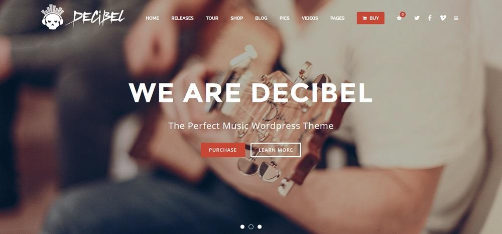 Decibel WordPress Musique